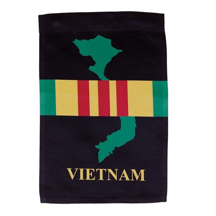 Vietnam Garden Flag In The Breeze
